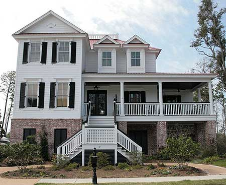 Superb charleston house plan 60042rc architectural for Charleston home plans