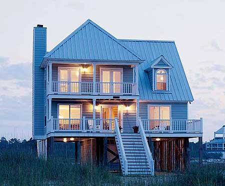 Beach home plan perfection 60050rc 2nd floor master for Beach house plans narrow lot