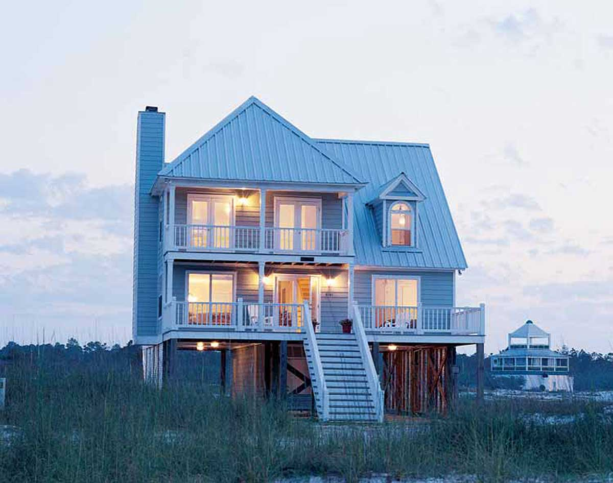 Beach home plan perfection 60050rc architectural designs house plans for Architecture design house plans