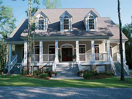 Low country charisma 60074rc country low country for Southern luxury house plans
