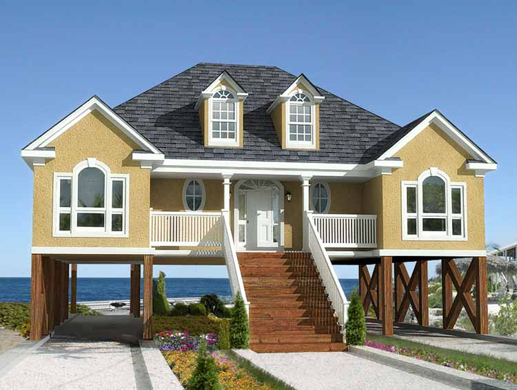 Beach Home Plans For Narrow Lots