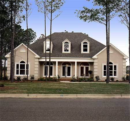 Triple dormered traditional house plan 6031rc for Classic home plans