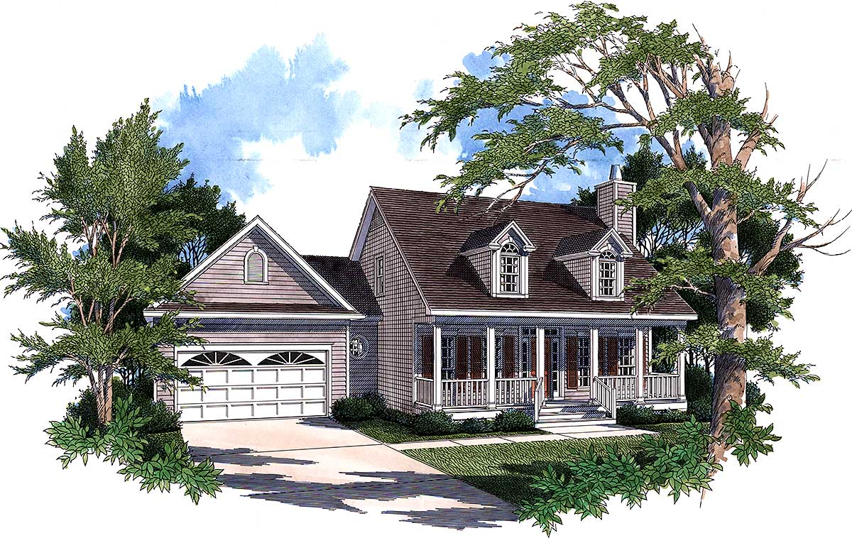 Country house plan with first floor master 6035rc 1st for Country bungalow house plans