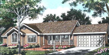 Affordable country style 0605p 1st floor master suite for Affordable country house plans