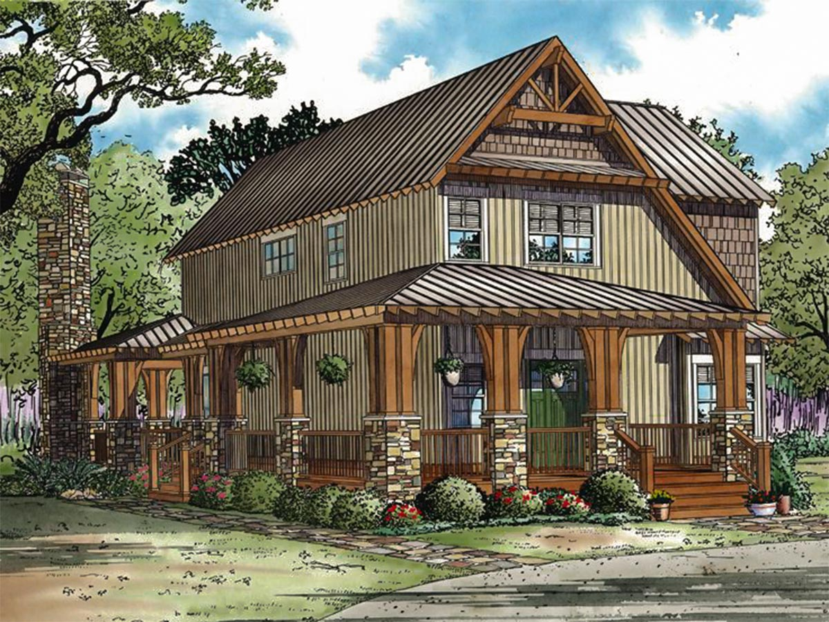 Rustic retreat 60535nd architectural designs house plans for Rustic retreat