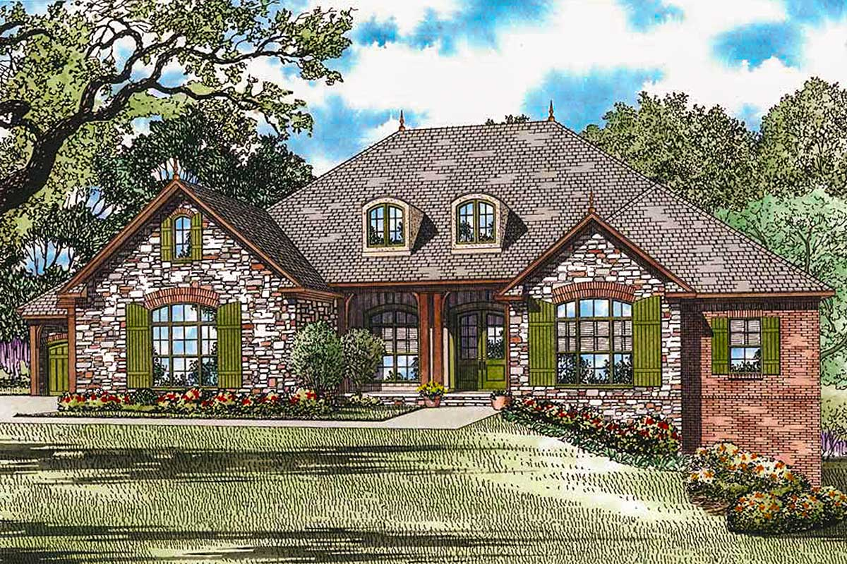 French country elegance 60540nd architectural designs for French country plans
