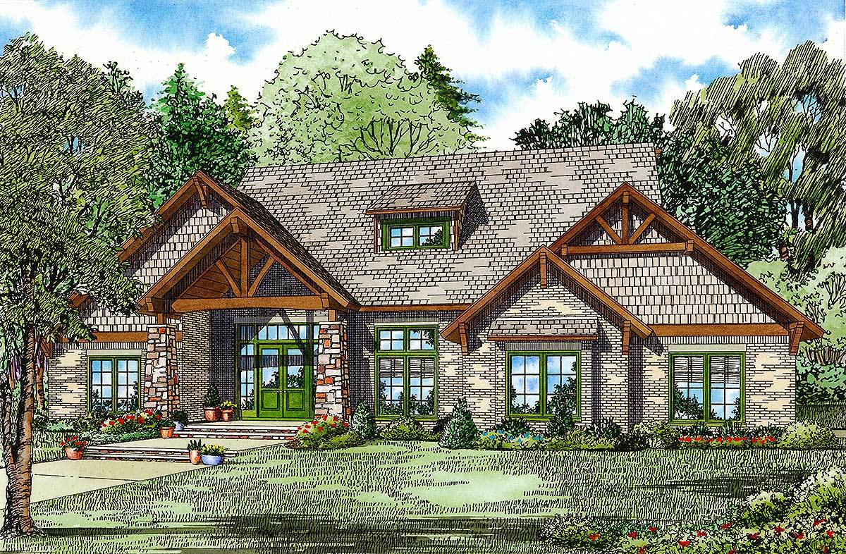 Made for entertaining 60548nd architectural designs for Large home plans for entertaining