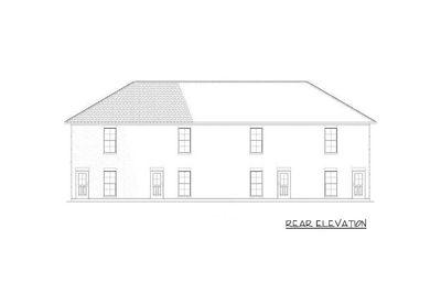 Attractive 4 Plex House Plan   60560ND Thumb   03