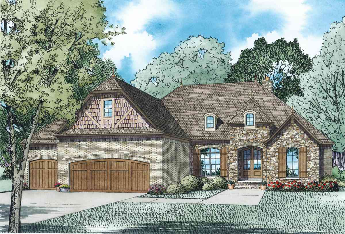 Rustic european home plan 60608nd architectural for European house plans with photos