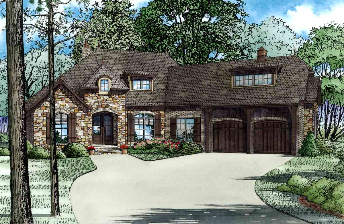 European home with open floor plan 60624nd 1st floor for European home plans