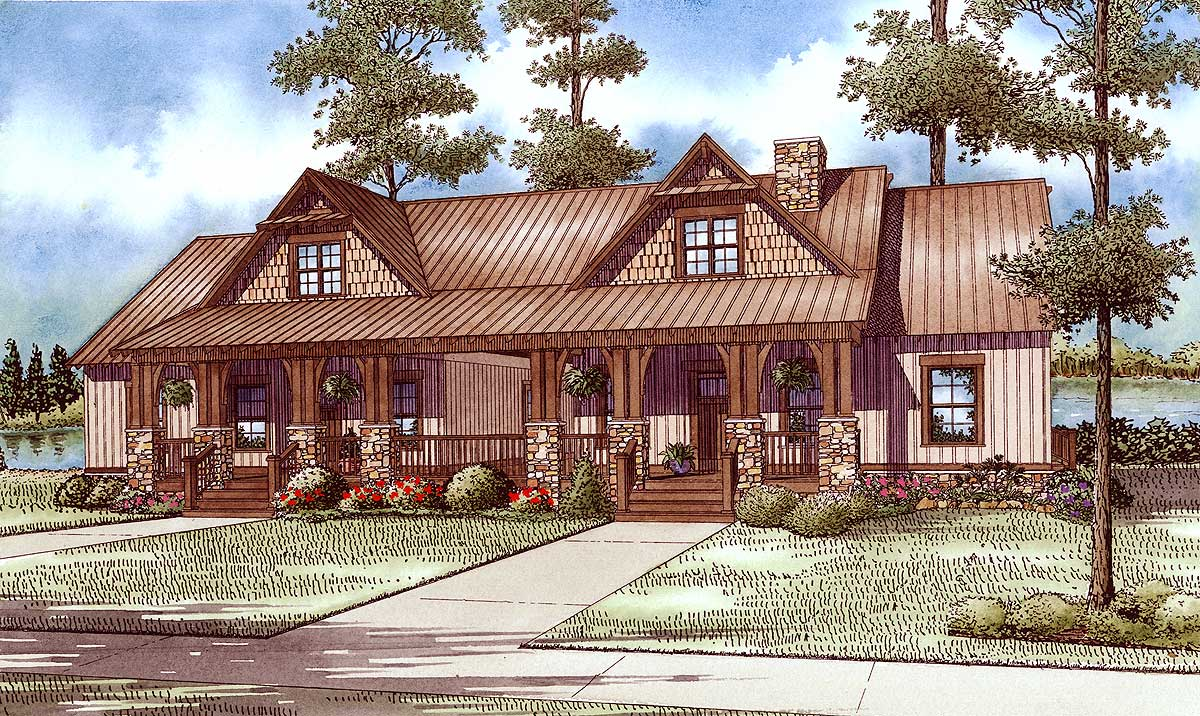 Craftsman duplex with breezeway 60645nd architectural - House plans and designs with photos ...