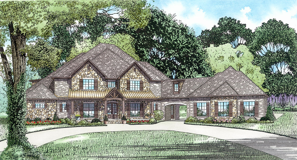 Six Bedroom House Plan With Style 60651nd Architectural Designs House Plans