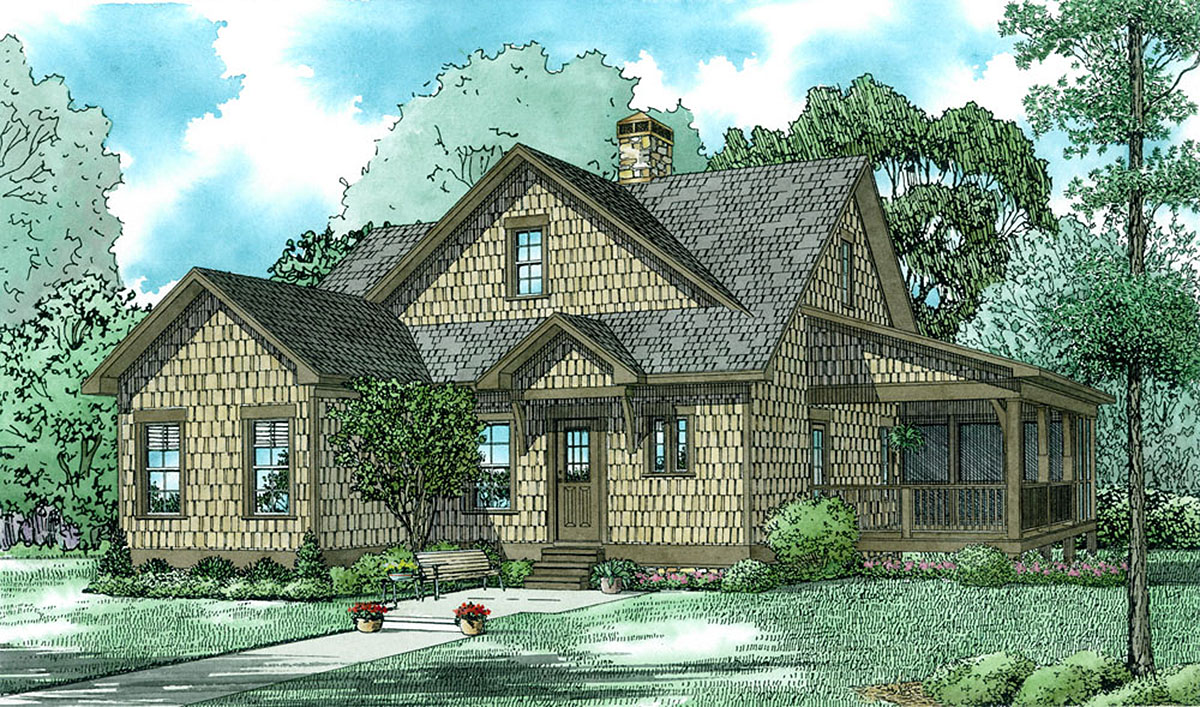 Rustic Shingle Style House Plan 60653nd Architectural