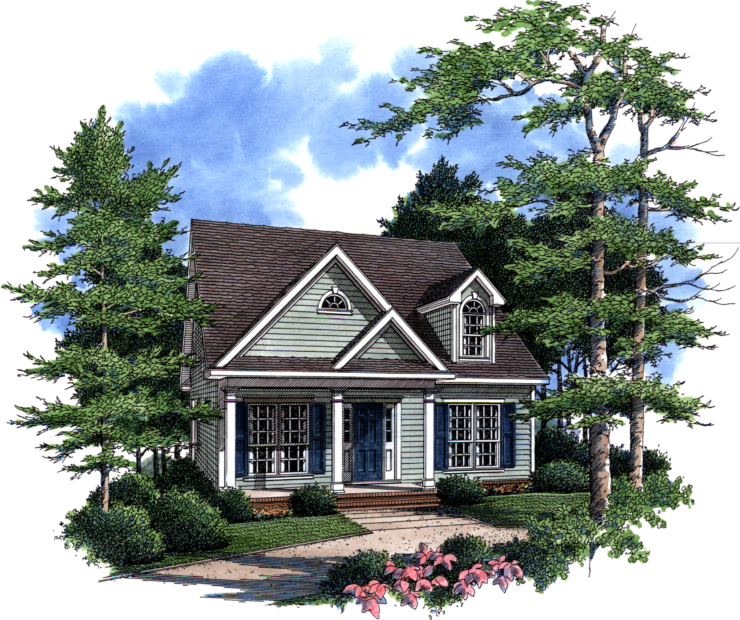Rustic country cottage 6068rc architectural designs for Rustic country home plans