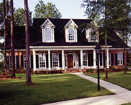 Brick and stucco cottage 6097rc 1st floor master suite for Stucco home floor plans