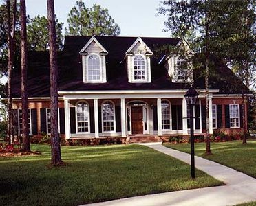 Brick And Stucco Cottage RC Architectural Designs House - Stucco home plans