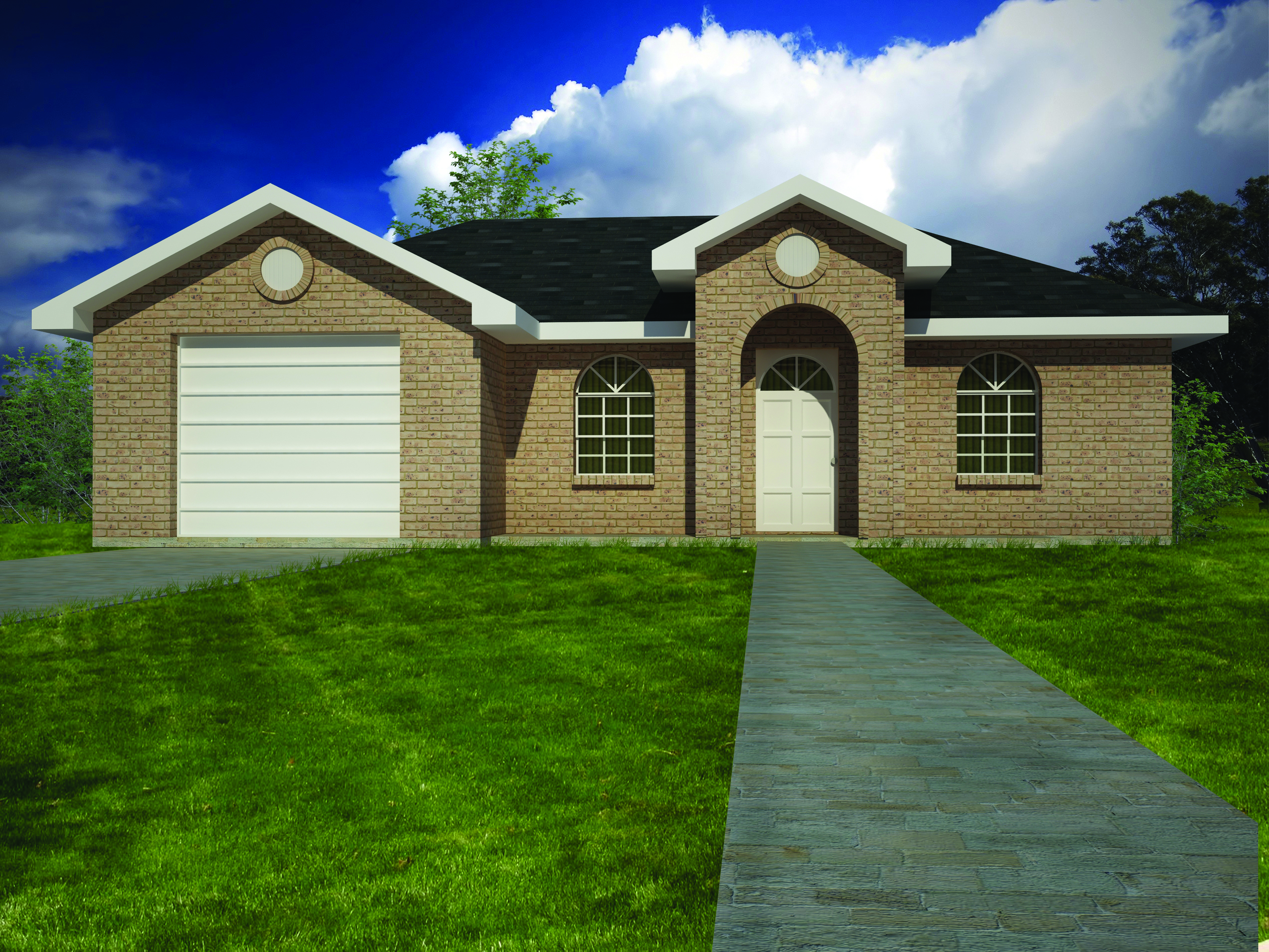 Compact brick ranch home 61028ks architectural designs for Brick ranch home plans
