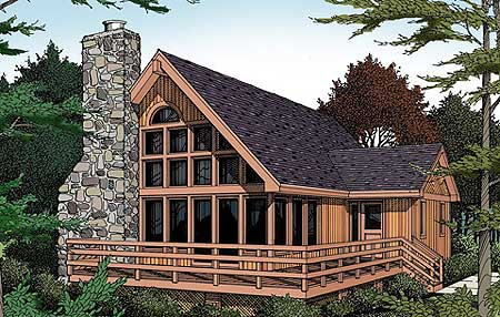 Vacation  Home  With a View  0616P Architectural Designs