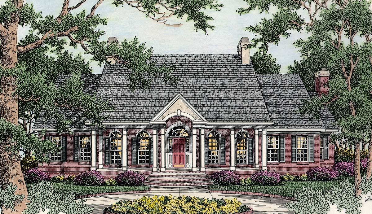 Welcoming southern design 62029v architectural designs for Southern designer house plans