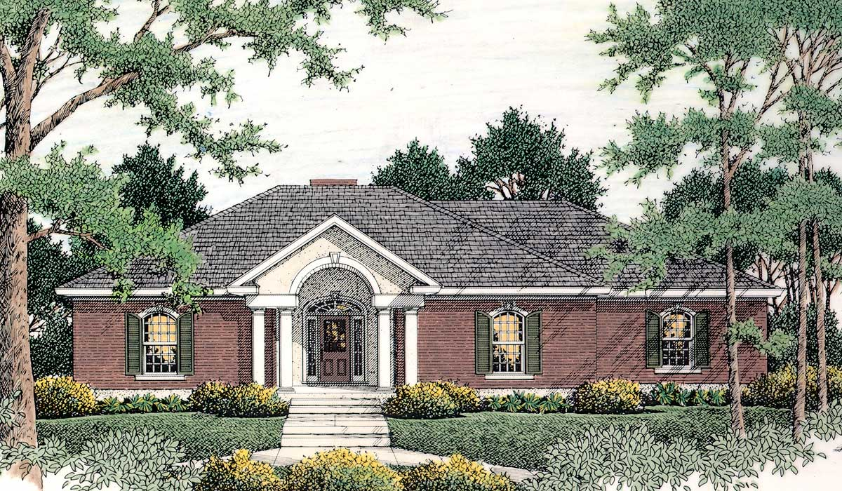 Classic traditional country home 6209v architectural for Classic country home designs