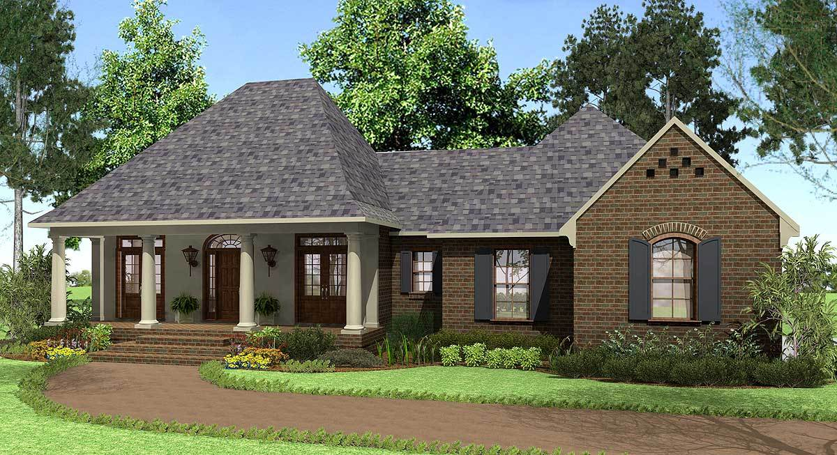 Southern french country 62112v 1st floor master suite for Southern french country house plans