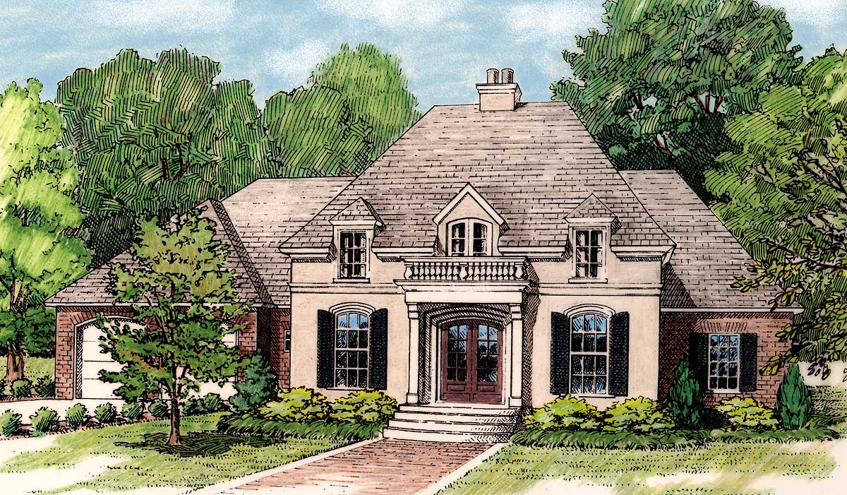 elegant french country home plan 62113v architectural