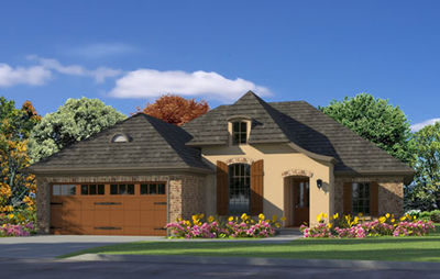 Gracious French Country Home Plan - 62131V thumb - 01