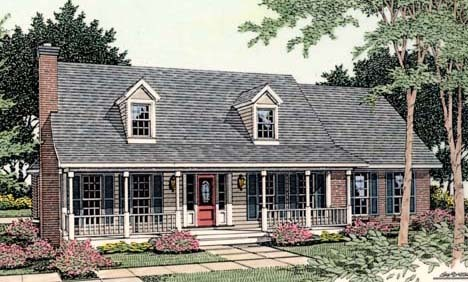 Affordable country charm 6227v architectural designs for Affordable country house plans