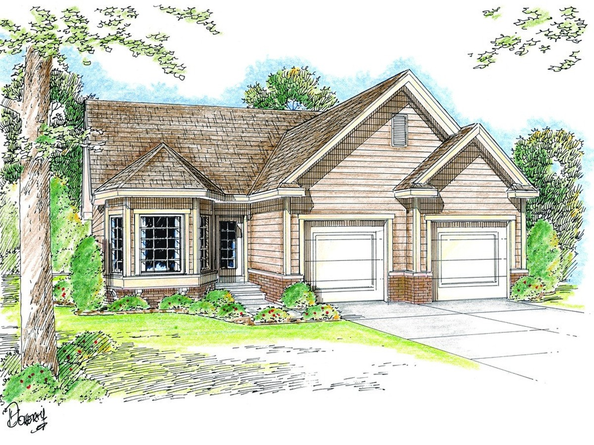 Elegant one story traditional house plan 62403dj for Traditional house plans two story