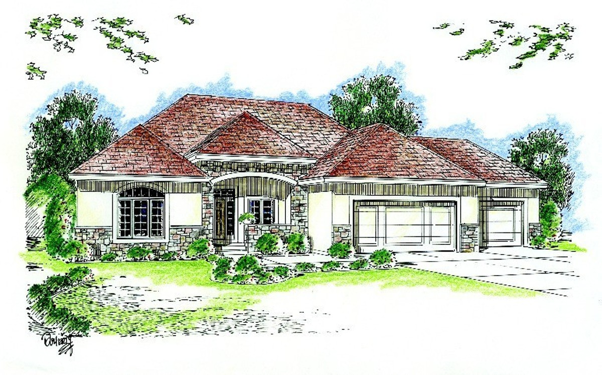 Single story traditional 62440dj architectural designs for Traditional house plans one story