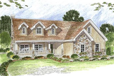 Two Story Traditional House Plan 62448dj Architectural