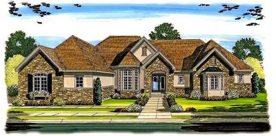 Single story french country 62456dj architectural for Single story french country house plans