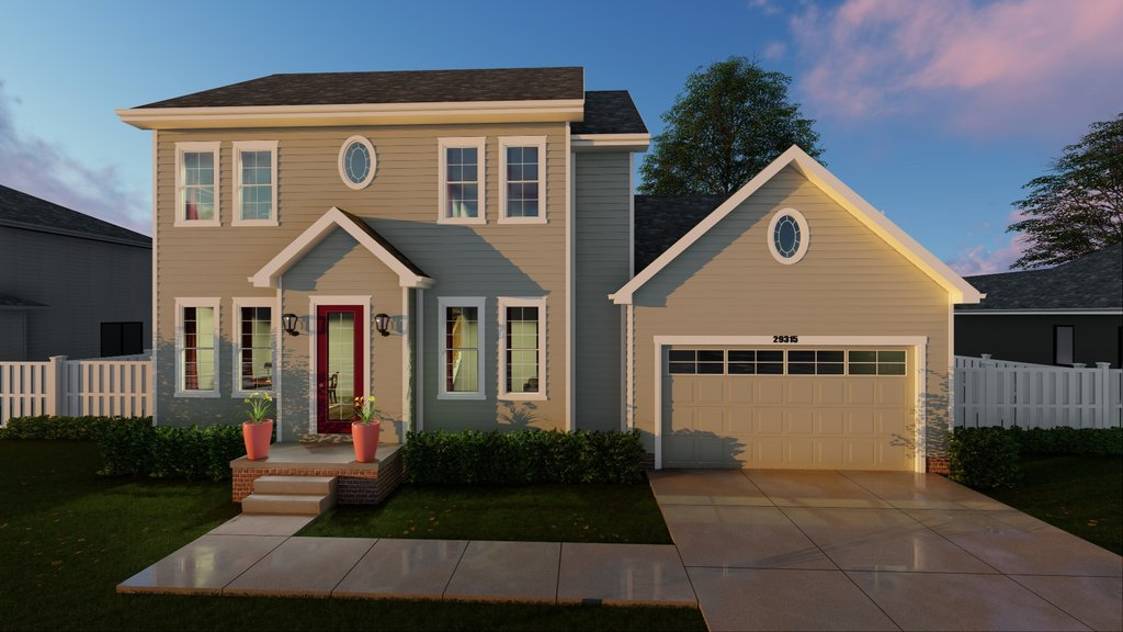 2 story colonial home plan 62511dj architectural for Two story colonial house plans