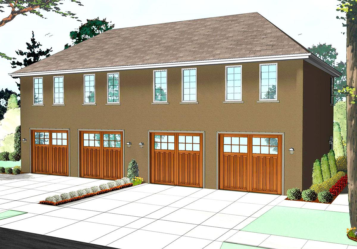 Duplex Garage And Loft Apartment 62512dj Architectural