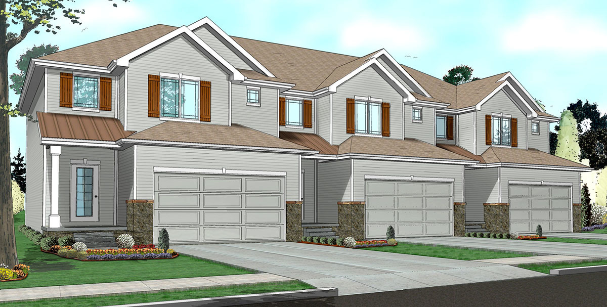 Easy to build 3 unit house plan 62523dj architectural Easy to build house plans