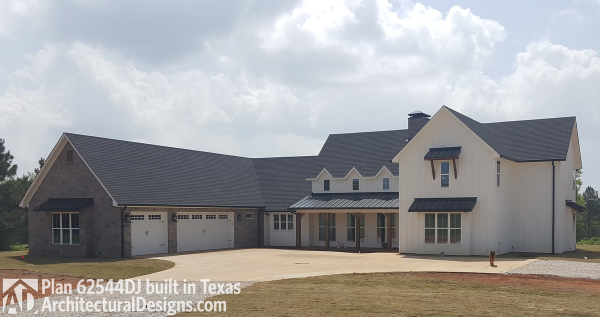 House plan 62544dj built in texas for 2 story modern farmhouse