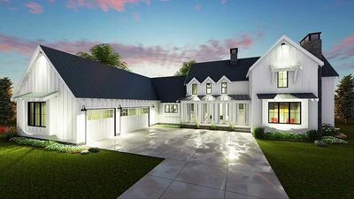 Modern 4 Bedroom Farmhouse Plan 62544DJ Architectural Designs