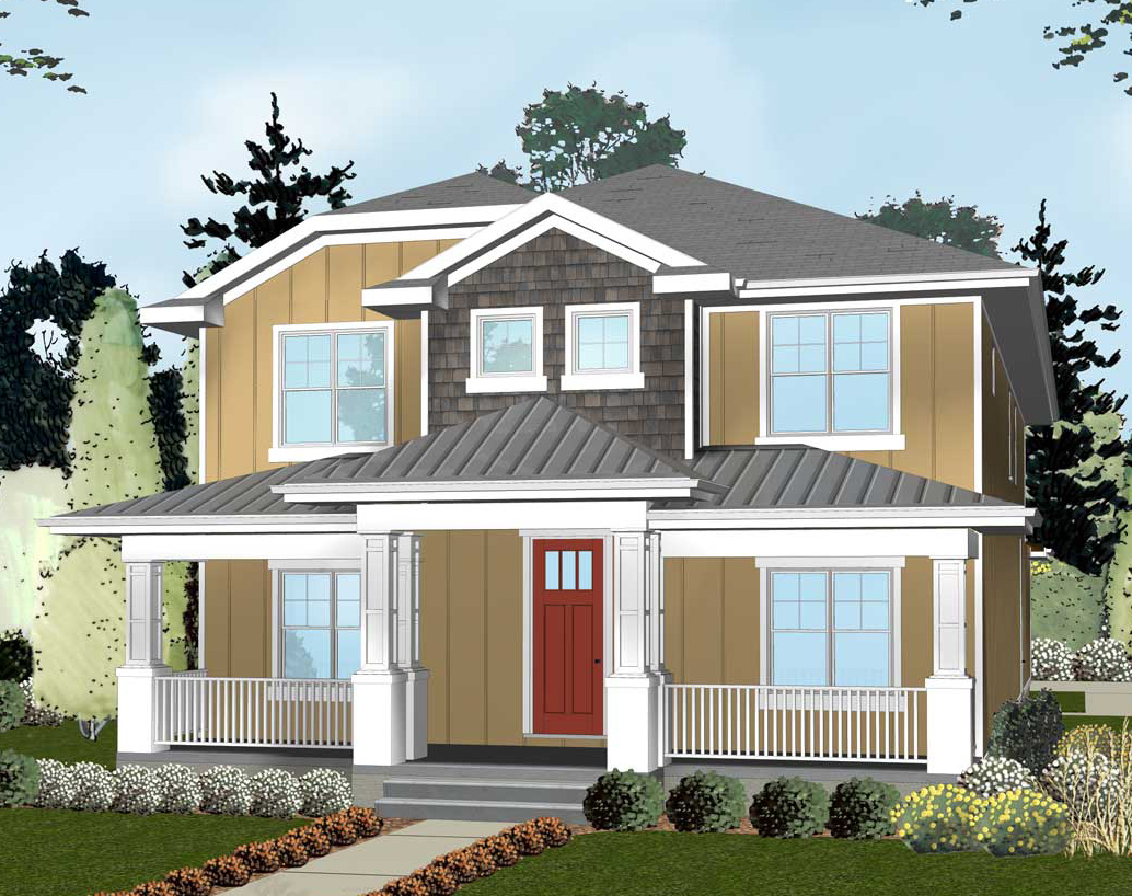Northwest house plan with open floor plan 62560dj 2nd for Nw home design