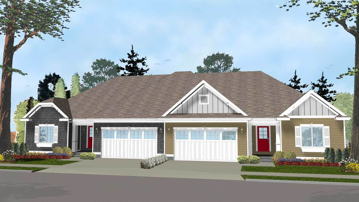 Easy To Build Duplex House Plan 62562dj Architectural