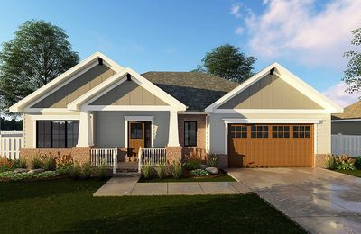 Craftsman Ranch House Plan 62565DJ Architectural Designs House