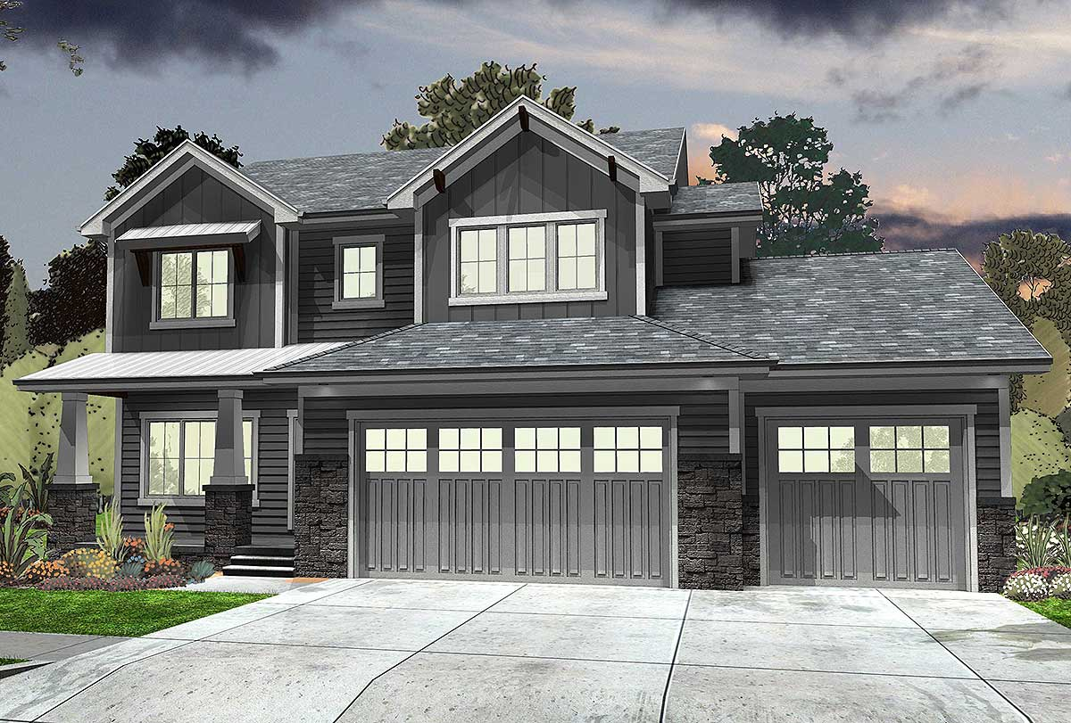 Northwest house plan with loft space 62567dj 2nd floor for Home designs northwest
