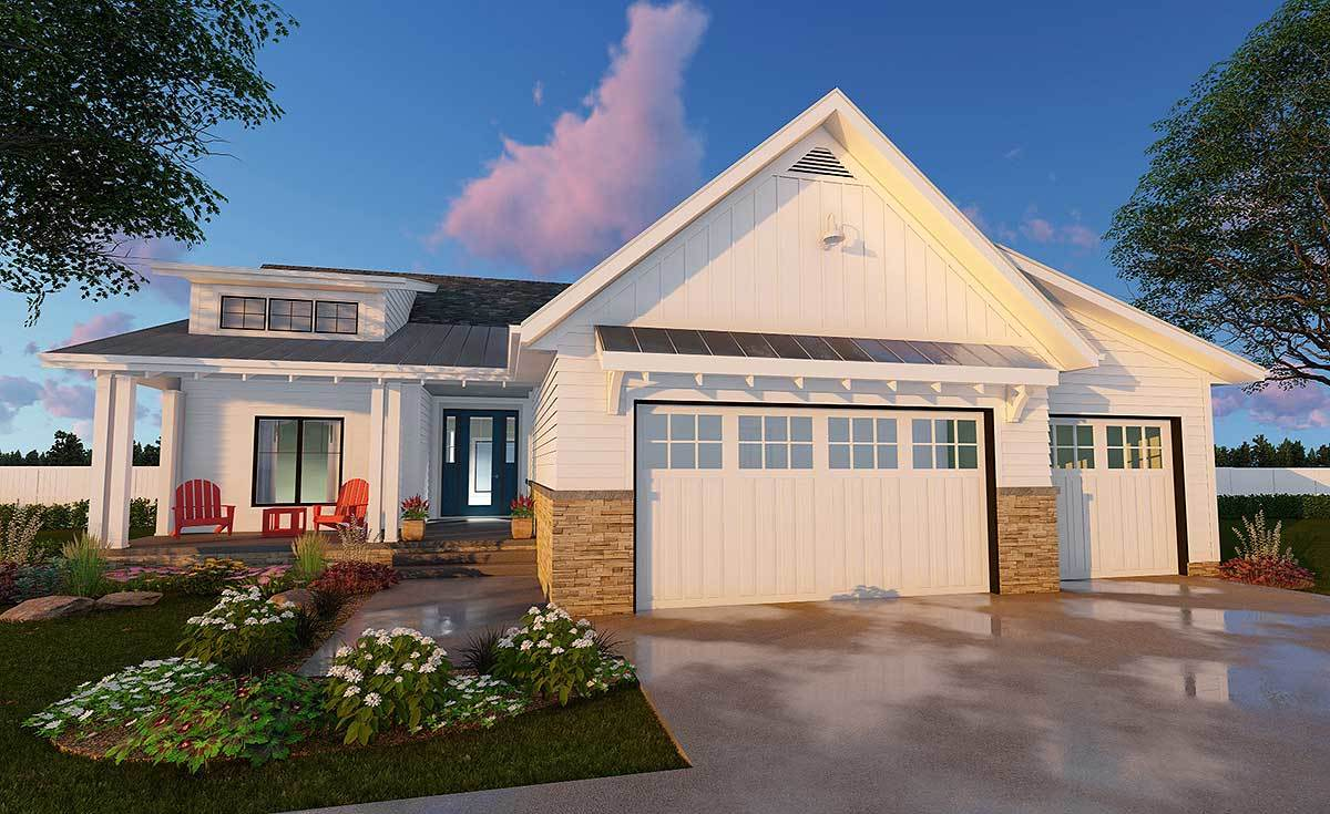 3 Bed Cottage Ranch Home Plan - 62568DJ | Architectural ...