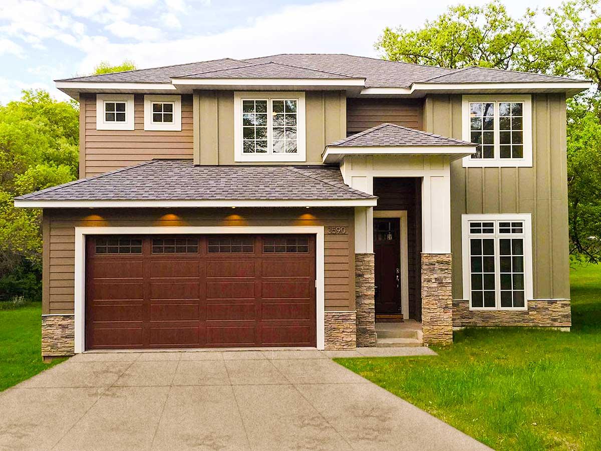 Family Friendly Prairie Style House Plan 62570dj