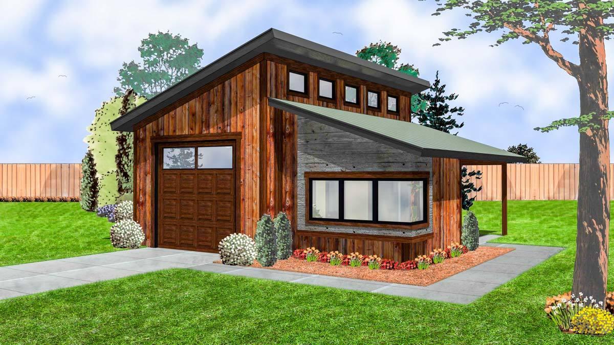 Modern Garage with Shop - 62574DJ | Architectural Designs ...