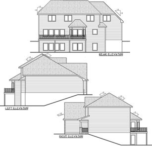 Country home with 4 car tandem garage 62577dj for 3 car tandem garage house plans