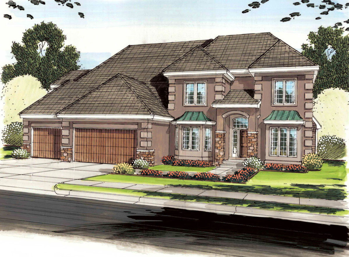 Five bedroom european house plan 62582dj architectural for European house plans