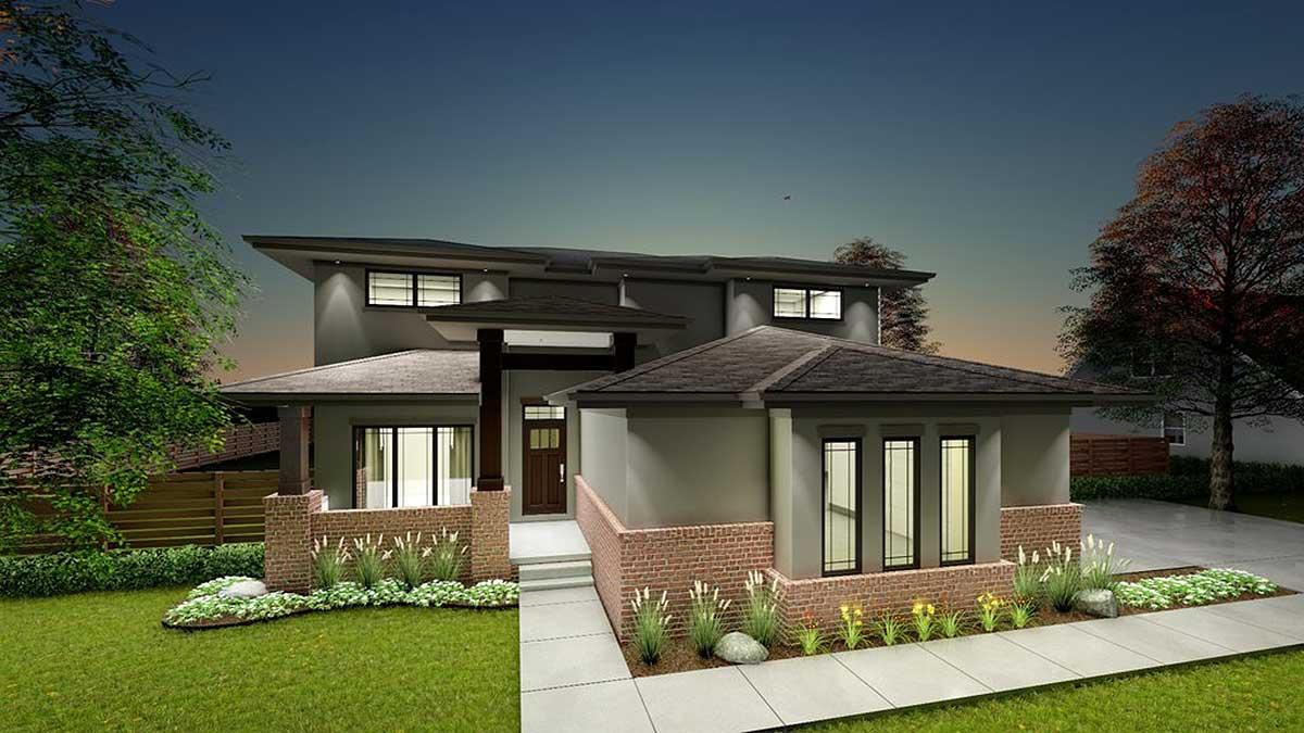 Prairie Style House Plan With Flex Room 62607dj