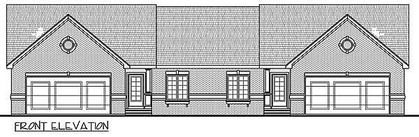 Modest ranch duplex house plan 62610dj 1st floor for Modest home plans