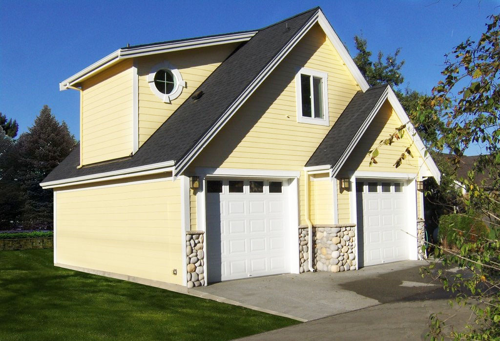 2 Car Garage With Shop And Loft 62612dj Cad Available