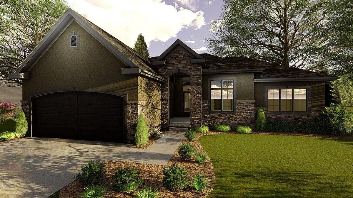 Elegantly modest 3 bed house plan 62613dj for Modest home plans